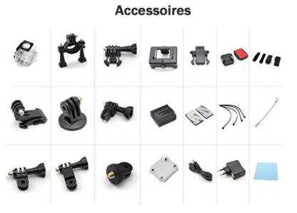Accessoires livrés avec Caméra XPRO2 TecTecTec
