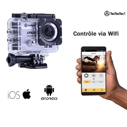 Contrôle WiFi via application Android et iOS pour Caméra XPRO2 TecTecTec