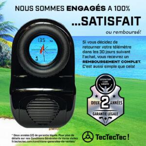 TecTecTec garantie 2 ans 24 mois télémètre laser de golf précision VPRO500 VPRO500S