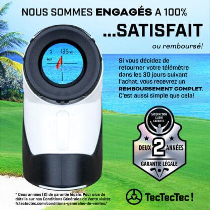 TecTecTec garantie 2 ans 24 mois télémètre laser de golf précision ULT-X 1000 mètres