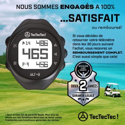 Garantie 2 ans TecTecTec ULT-G Montre de golf de précision satellite GPS
