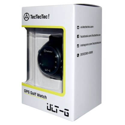 TecTecTec ULT-G emballage boîte de la montre de Golf de précision avec connexion Satellite GPS